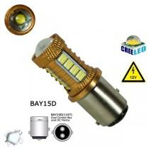 Λαμπτήρας 1157 με 32 SMD 4014 και 1 Cree LED Can Bus 12v Ψυχρό Λευκό