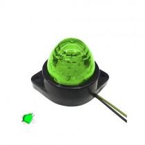 Led Πλευρικά Φώτα Όγκου Φορτηγών Bullet Ip66 6Smd 24V 1Τμχ - Πράσινο