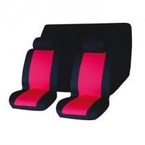 Κάλυμμα Σετ 6τμχ Υφασμάτινο Autoline House Auto 2 Χρώματα-Μαύρο-Κόκκινο