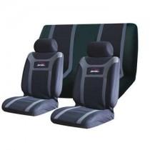 Κάλυμμα Σετ 5τμχ Υφασμάτινο Autoline Super Speed 3 Χρώματα Μαύρο-Γκρι