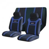 Κάλυμμα Σετ 5τμχ Υφασμάτινο Autoline Super Speed 3 Χρώματα Μαύρο-Μπλε