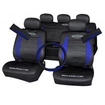 Κάλυμμα Υφασμάτινο Autoline Polymesh Supercars Σετ 11τμχ Μαύρο-Μπλε