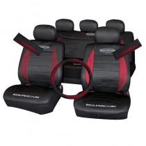 Κάλυμμα Υφασμάτινο Autoline Polymesh Supercars Σετ 11τμχ Μαύρο-Κόκκινο