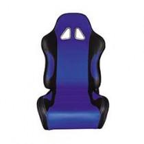 Καθίσματα Ανακλινόμενα Bucket Δερματίνη Μαύρο-Μπλέ (1Τμχ)