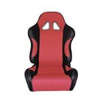 Καθίσματα Ανακλινόμενα Bucket Δερματίνη Μαυ-Κόκκινο (1Τμχ)