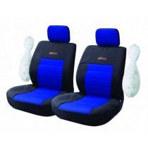 Κάλυμμα Υφασμάτινο Autoline Wrc Μπροστινά Μαύρο-Μπλε 2τμχ