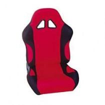 Καθίσματα Ανακλινόμενα Bucket Oem Υφασμάτινα Μαύρο-Κόκκινο (1Τμχ)