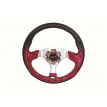 Τιμόνι Αυτοκινήτου Autoline Type-R 32Cm Μαύρο-Κόκκινο