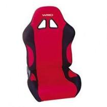 Καθίσματα Ανακλινόμενα Bucket Wrc Υφασμάτινα Μαυ-Κόκκινο (1Τμχ)