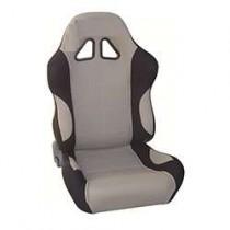 Καθίσματα Ανακλινόμενα Bucket Type-R Υφασμάτινα Μαυ-Γκρί (1Τμχ)