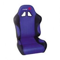 Καθίσματα Ανακλινόμενα Bucket Type-R Υφασμάτινα Μαύρο-Μπλέ (1Τμχ)