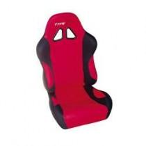 Καθίσματα Ανακλινόμενα Bucket Type-R Υφασμάτινα Μαυ-Κόκκινο (1Τμχ)