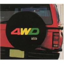 """Κάλυμμα ρεζέρβας 15"""" AutoLine 4WD κόκκινο - κίτρινο"""