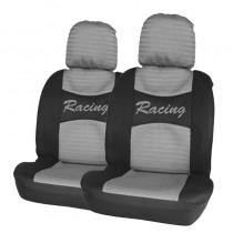 Κάλυμμα Υφασμάτινο Autoline Racing Μπροστινά Μαύρο-Γκρι 2τμχ