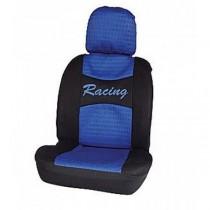 Κάλυμμα Υφασμάτινο Autoline Racing Μπροστινά Μαύρο-Μπλε 2τμχ