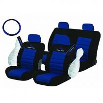 Κάλυμμα Υφασμάτινο Autoline Sport Series Σετ 10τμχ Μαύρο-Μπλε
