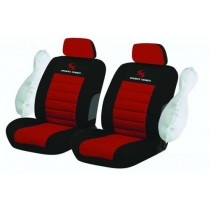 Κάλυμμα Υφασμάτινο Autoline Sport Series Μπροστινά Μαυ-Κόκκινο