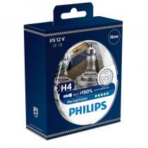 Λάμπες PHILIPS H4 Racing Vision 12V/6055W Έως 150% Περισσότερο Φως