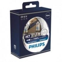 Λάμπες PHILIPS H7 Racing Vision 12V 55W Έως 150% Περισσότερο Φως 2 τμχ