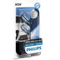 Λάμπες PHILIPS T10 W5W White Vision 12V 5W