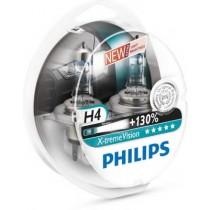 Λάμπες PHILIPS H4 12V 55W X-Treme Vision 130% Περισσότερο Φώς 2τμχ