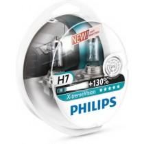 Λάμπες PHILIPS H7 12V 55W X-Treme Vision 130% Περισσότερο Φώς