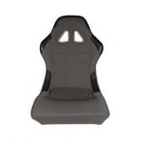 Καθίσματα Bucket Κουβάδες Υφασμάτινα Μαύρο-Γκρί (1Τμχ)