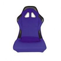 Καθίσματα Bucket Κουβάδες Υφασμάτινα Μαύρο-Μπλέ (1Τμχ)