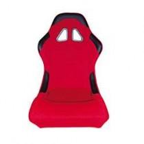 Καθίσματα Bucket Κουβάδες Υφασμάτινα Μαύρο-Κόκκινο (1Τμχ)