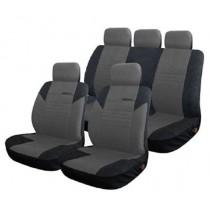 Κάλυμμα Υφασμάτινο Autoline Calibre Σετ Μαύρο-Γκρι