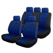 Κάλυμμα Υφασμάτινο Autoline Calibre Σετ Μαύρο-Μπλε