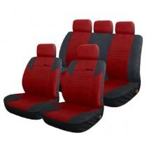 Κάλυμμα Υφασμάτινο Autoline Calibre Σετ Μαύρο-Κόκκινο