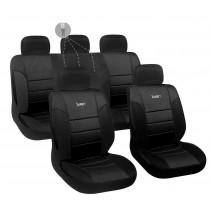 Κάλυμμα Δερματίνη Autoline Luxury Σετ 9τμχ Μαύρο