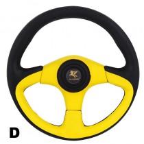 Τιμόνι Αυτοκινήτου 13 33cm Μαύρο-Kίτρινο