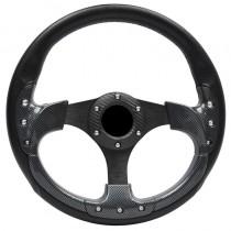 Τιμόνι Αυτοκινήτου Autoline Carbon 35Cm Μαύρο-Γκρι