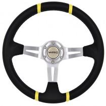 Τιμόνι Αυτοκινήτου Βαθύ Autoline Tag 35Cm Μαύρο-Κίτρινο