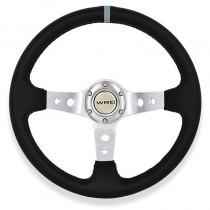 Τιμόνι Αυτοκινήτου Βαθύ Autoline Spy 35Cm Γκρι-Ασημένιες Ακτίνες
