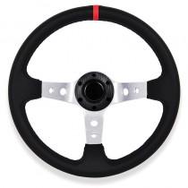 Τιμόνι Αυτοκινήτου Βαθύ Autoline Spy 35Cm Κόκκινες-Ασημένιες Ακτίνες