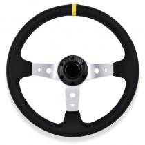Τιμόνι Αυτοκινήτου Βαθύ Autoline Spy 35Cm Κίτρινες-Ασημένιες Ακτίνες