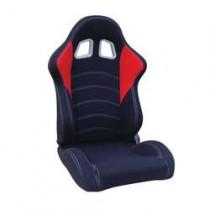 Καθίσματα Ανακλινόμενα Bucket Oem Race Υφασμάτινα Μαύρο-Κόκκινο (1Τμχ)