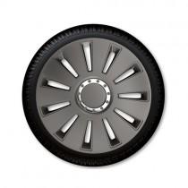 Τάσια Αυτοκινήτου 4τμχ Gorecki Argo Silverstone Chrome Dark 14