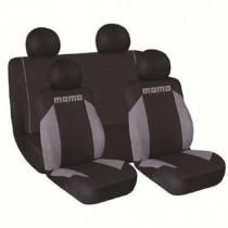 Κάλυμμα Καθισμάτων Υφασμάτινο Momo Σετ 7τμχ 013 Μαύρο-Γκρι Διαιρούμενο