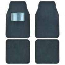 Μοκέτα Πατάκι Αλουμίνιο Autoline Advance Set Γκρί 4Τμχ
