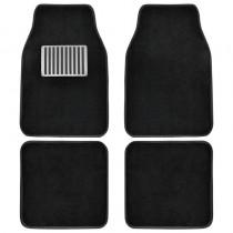Μοκέτα Πατάκι Αλουμίνιο Autoline Advance Set Μαύρο 4Τμχ