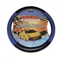 Κάλυμμα Τιμονιού Δερματίνη Soable Autoline 38Cm Μαύρο-Μπλέ