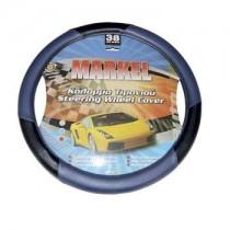Κάλυμμα Τιμονιού Δερματίνη Markel Autoline 38Cm Μαύρο-Μπλέ