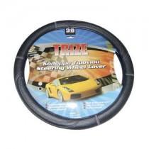 Κάλυμμα Τιμονιού Δερματίνη Trize Autoline 38Cm Γκρί