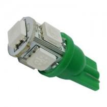 Λάμπα Led T10 Με 5 Smd 5050 1Τμχ - Πράσινο