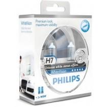 Λάμπες PHILIPS H7 White Vision 12V 55W 3700K 60% Περισσότερο Φως +2 W5W 2τμχ