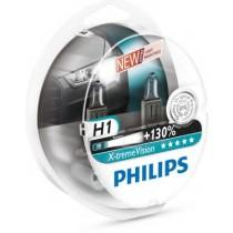 Λάμπες PHILIPS H1 12V 55W X-Treme Vision 130% Περισσότερο Φώς 2τμχ